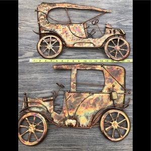 "19"" Vintage Model-T Metal Wall Decor Set of 2"